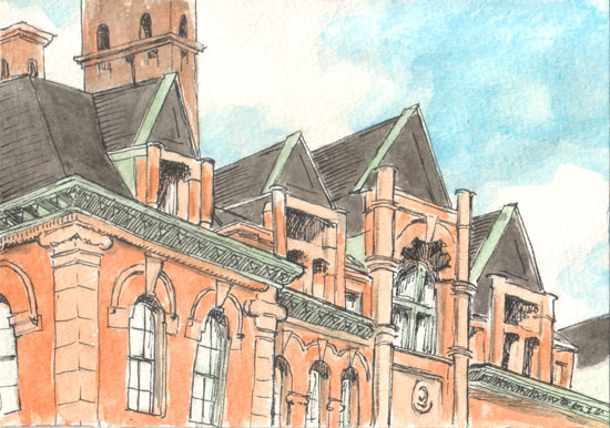 Watercolor of PS 9